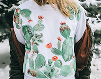 Embroidery Cacti