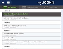 myUCONN (Events) App Design