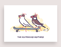Java Sparrow Postcards