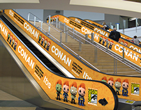San Diego Comic-Con Airport Takeover for Conan