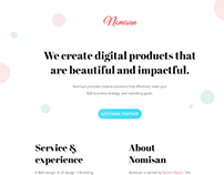 Nomisan Website Redesign & Development