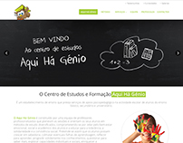 Aqui Há génio, website and offline work