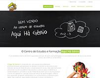 Aqui Há génio, website and offline work