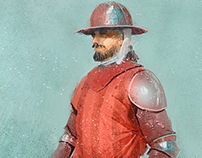 concept art medieval soldier