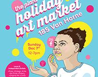 Holiday Art Market poster