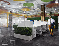 Design project office in Moscow (690 sq.m.)