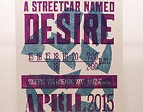 A Streetcar Named Desire (Lasercut Poster)