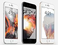 """""""Blackfire"""" iPhone Wallpapers"""