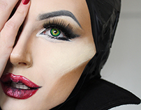 MALEFICENT MAKE UP TRANSFORMATION
