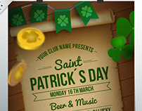 Saint Patrick´s Day Posters for Freepik