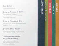 La Petit France Menu Design