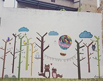 Mural for a school.