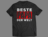 Father's Day Gift !! Beste Papa der Welt T Shirt