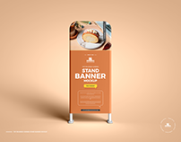 Free Stand Banner Mockup