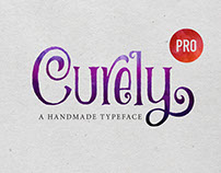 Curely Pro fancy cute lettering font