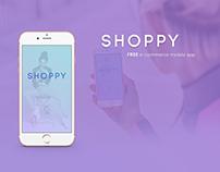 FREE PSD E-commerce mobile app UI/UX