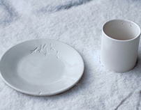 symbiotic ceramic dish & cup by studio inbetween