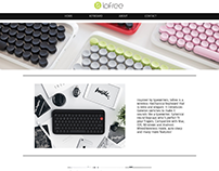 Lofree Keyboard | Minimal Website | Adobe Muse |