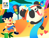 Panda TV illustration