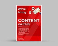 Content Writer Hiring Poster