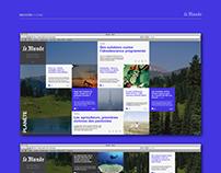 Le Monde / Web design / Rediseño sitio web