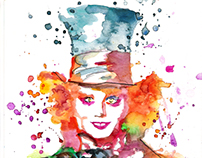 • Watercolor Mad Hatter •