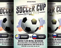 Russia Football World Cup 2018 Flyer Template
