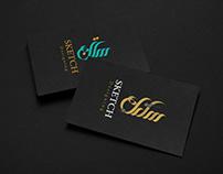 Free Black Card Logo Mockup