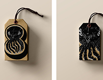 """eight"" clothing - BRANDING - emblem, label design"
