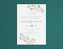 Andrea & Nicholas: Wedding Invitation & RSVP