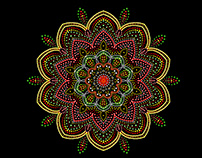 Mandala Symmetry Painting in Adobe Photoshop CC