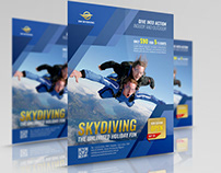 Skydiving Flyer Template