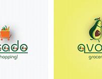 Avocado grocery shopping! Logo