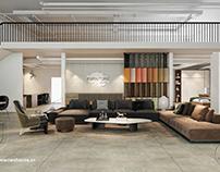 Mẫu thiết kế thi công nội thất showroom trưng bày