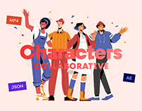Collaborative Characters Animated Illustration Pack