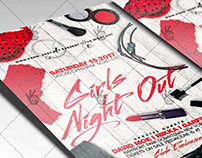 Girls Night Out Party - Premium Flyer PSD Template
