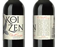 Koi Zen logo and lable design