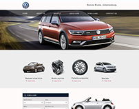 Homepage designs for VW