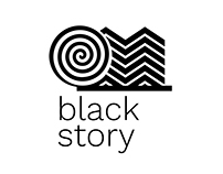 Black Store - optical patterned logo