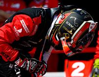 Charles Leclerc Monaco Helmet and Race Suit