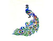 Vibrant Peacock Machine Embroidery Design