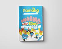 Revista Infantil Namaka: portada e infografía