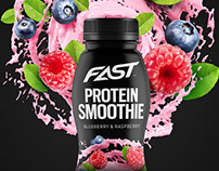 Fast | Protein Smoothie Packaging