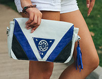 Blue Citrus Clutch