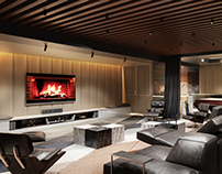 Home Theater Design. Atmospheric Rendering