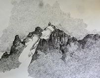 Landscape dot drawing Wilderness