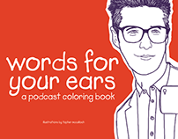 words for your ears: a podcast coloring book