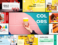 COLORS - FREE POWERPOINT TEMPLATE