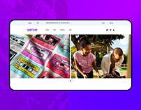Verve | T-shirt Website Design