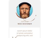 Profile card animation